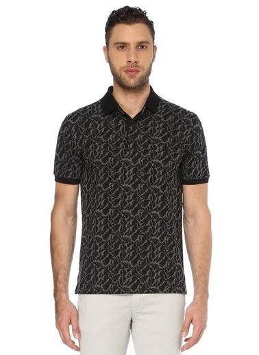 George Hogg George Hogg 7003329 Polo Yaka Slim Fit Siyah Antrasit Tshirt Erkek Tişört Siyah